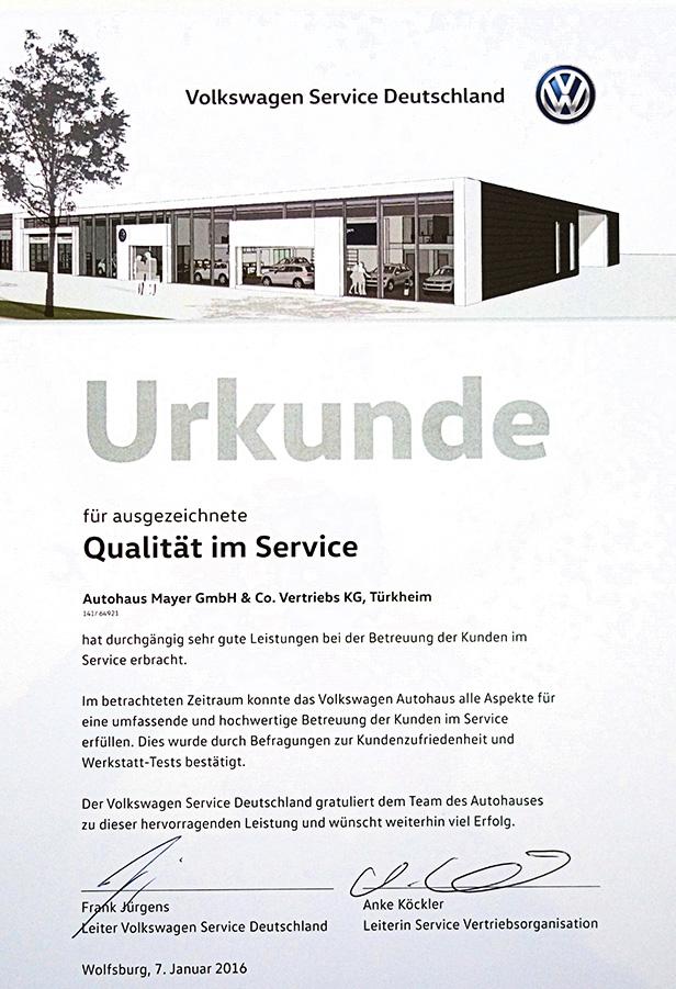 Qualität im Service | Autohaus Mayer-Tuerkheim