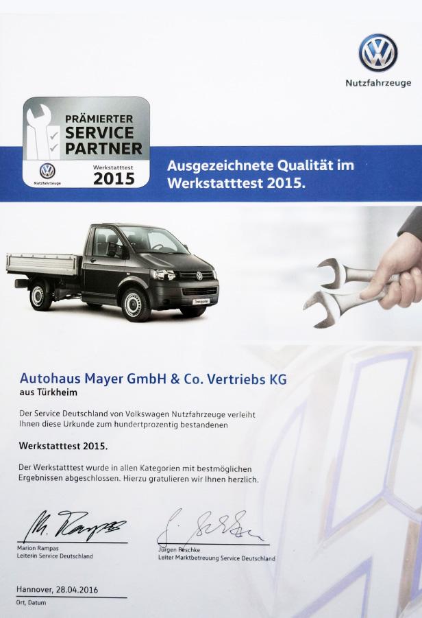 Auszeichnung | Autohaus Mayer-Tuerkheim